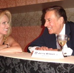 Ewa Laurance enjoyed a moment with special guest Jerry Orbach at Laurance's Hall of Fame induction ceremony.