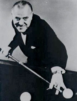 """WILLIE HOPPE – """"The King""""(b. Oct. 11, 1887, Cornwall-on-Hudson, NYd. Feb. 1, 1959)"""